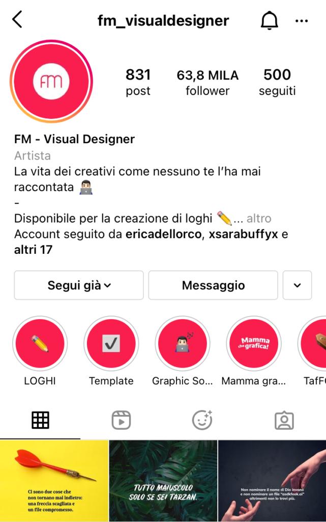 fm_visualdesigner profili creativi Instagram