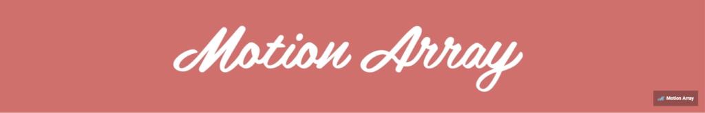 Motion Array motion design youtube