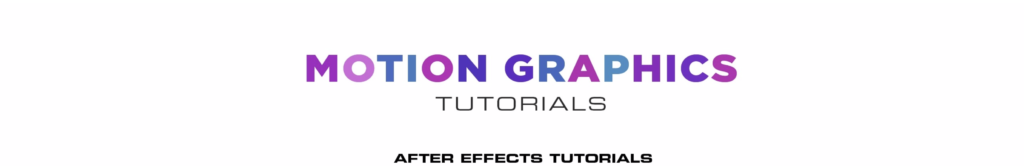 Motion Graphic Tutorial motion design youtube