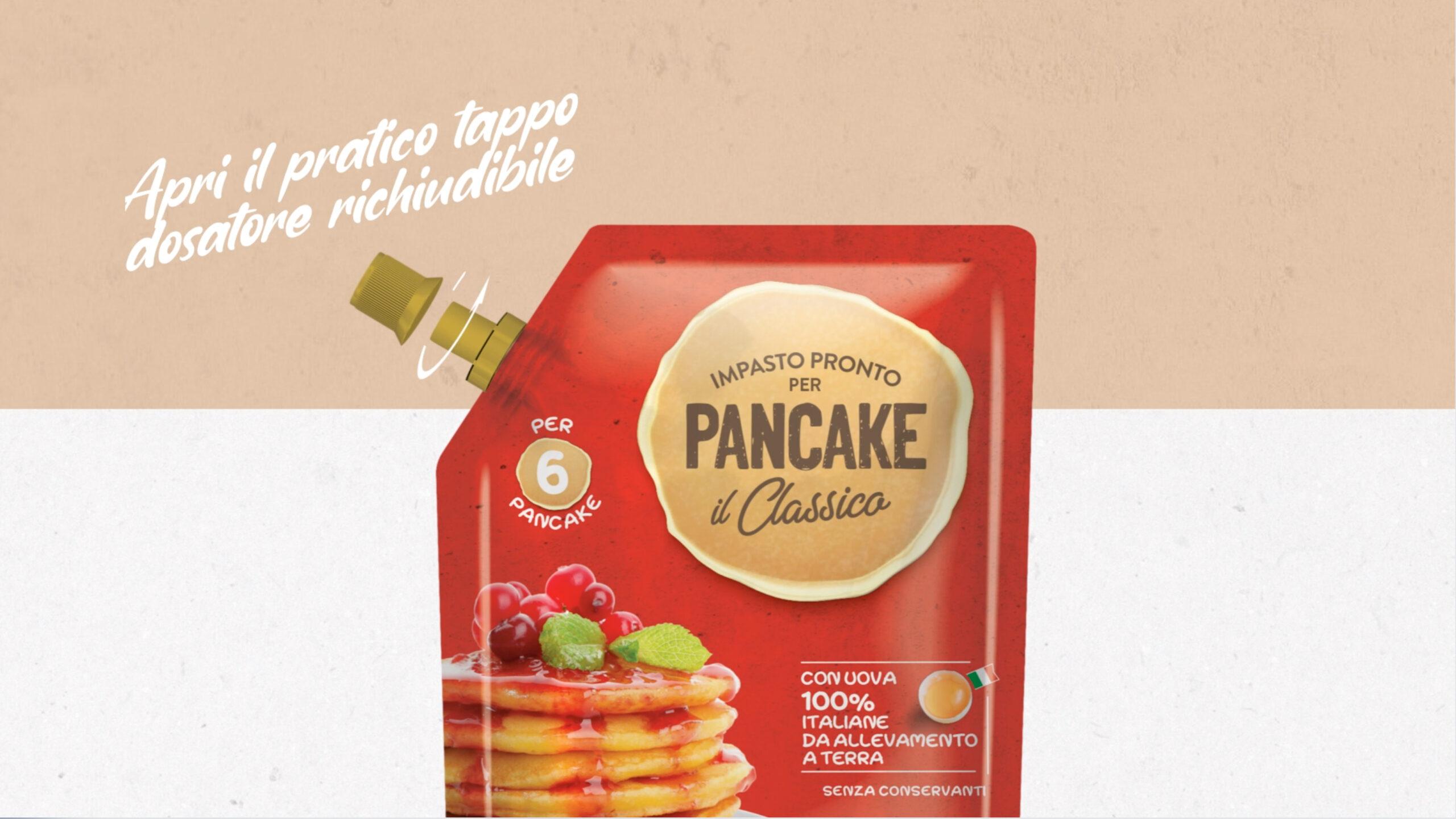 Pancake making of